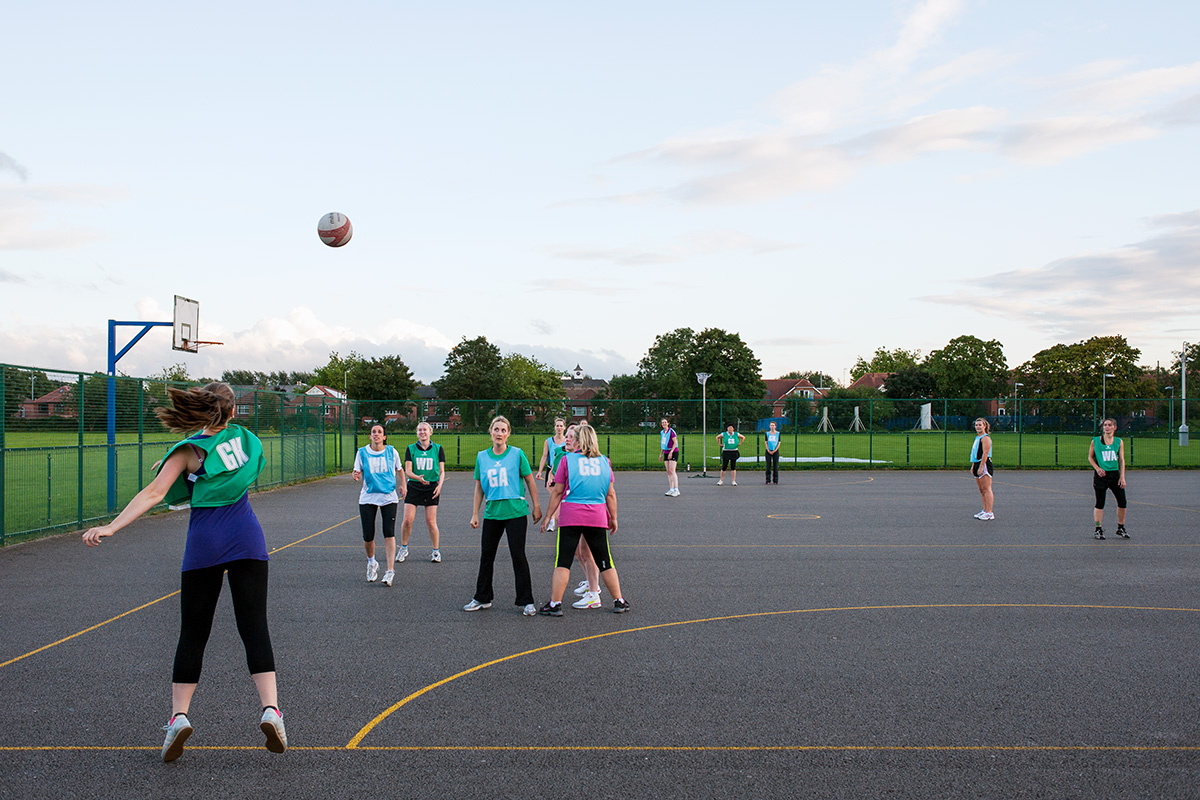 Mismets vs. Manchester Techno Girls Squad in the Simple Netball league