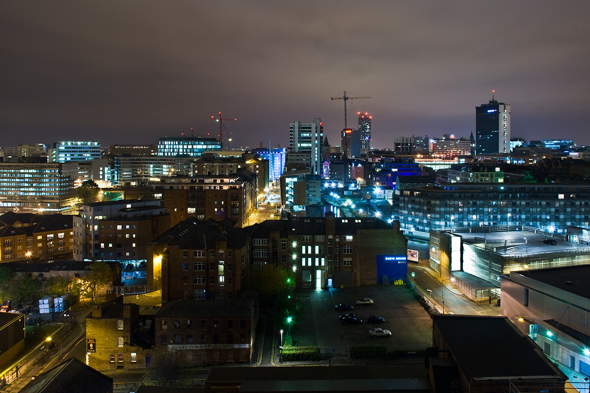 Manchester city centre, as viewed from Ancoats