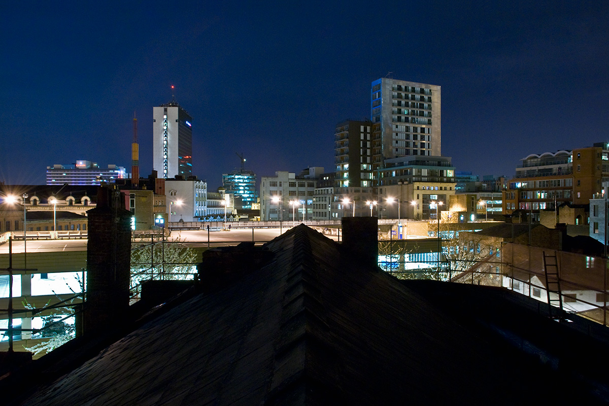 Manchester city centre, as viewed from Northern Quarter
