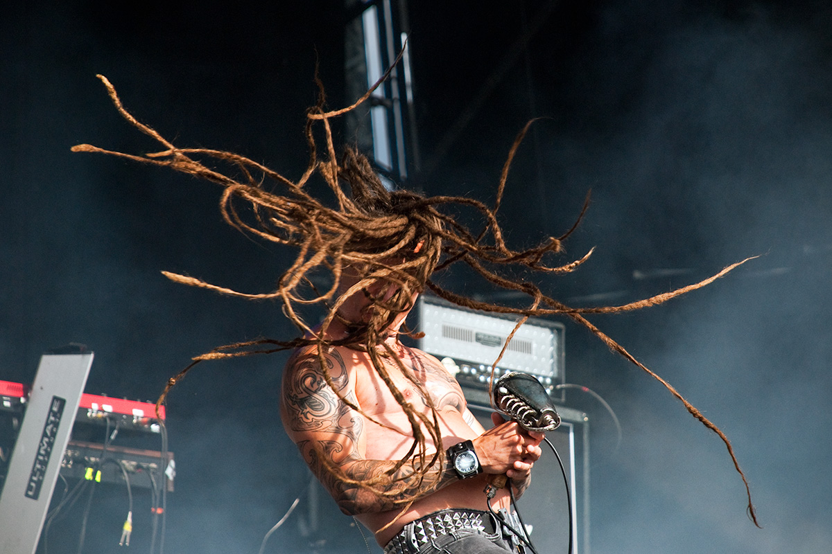 Tomi Joutsen of Amorphis playing at Bloodstock Open Air Festival 2010