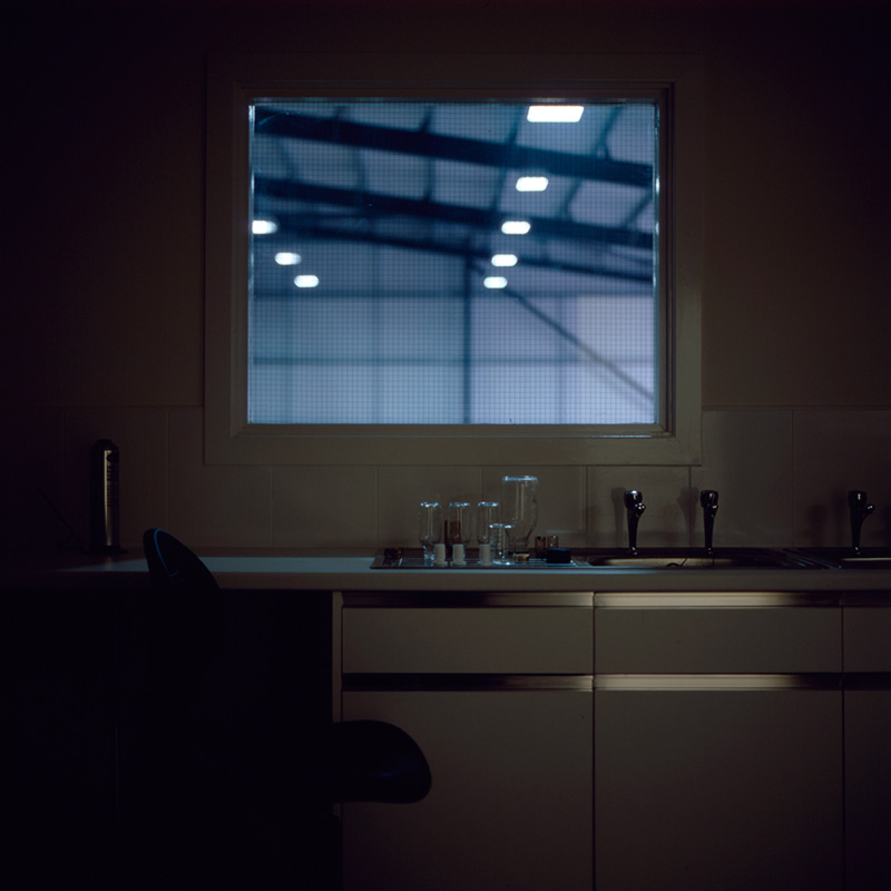 The laboratory at Moorhouse's new brewery at night