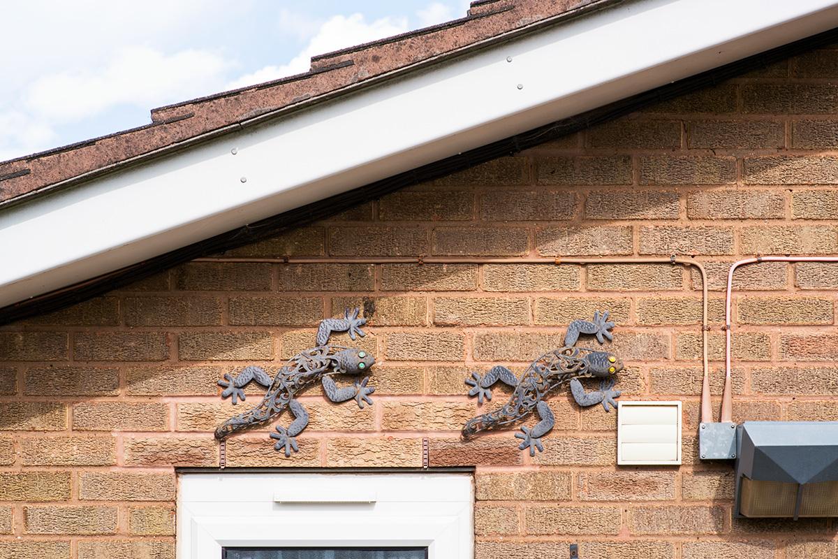Lizard wall ornaments, Birmingham jewellery quarter