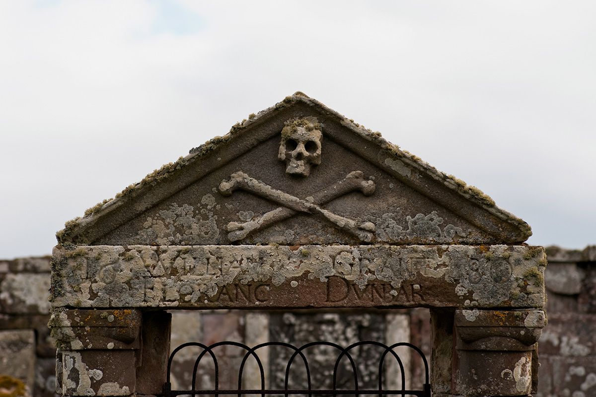 The entrance to a mausoleum in Kirkmichael Burial Ground, Udale Bay, Black Isle