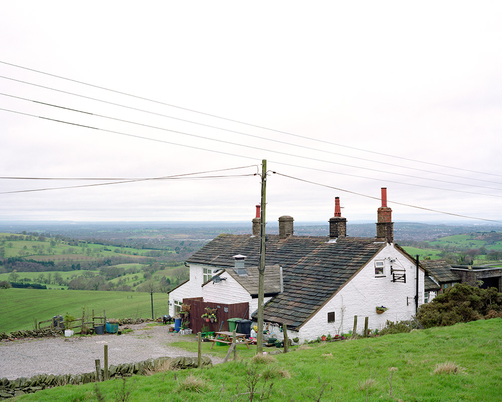 A large format photograph of the Hanging Gate, Higher Sutton. This photograph is part of a series on isolated inns.