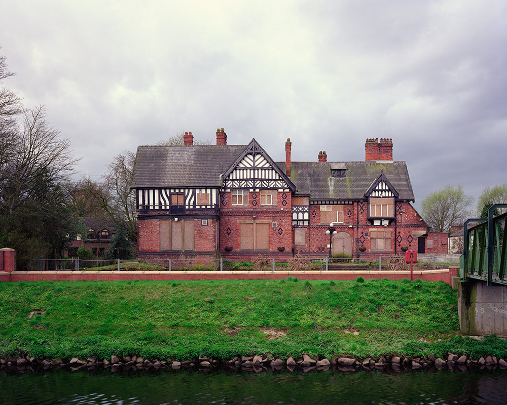 A large format photograph of the Tatton Arms, a derelict inn in Northenden. This photograph is part of a series on isolated inns.