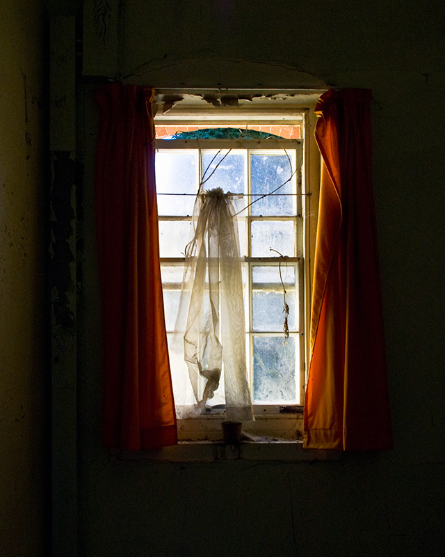 A window in a bedroom at Cane Hill Hospital, Coulsdon
