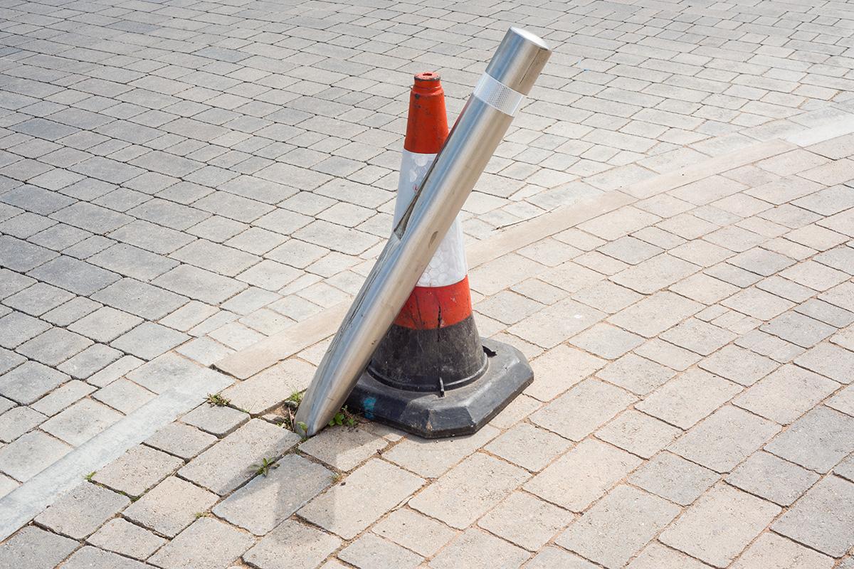 Bollard/cone, Cheltenham