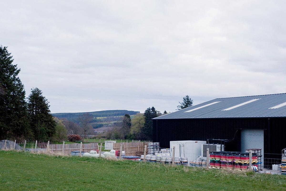 Black Isle Brewery and surrounding farmland