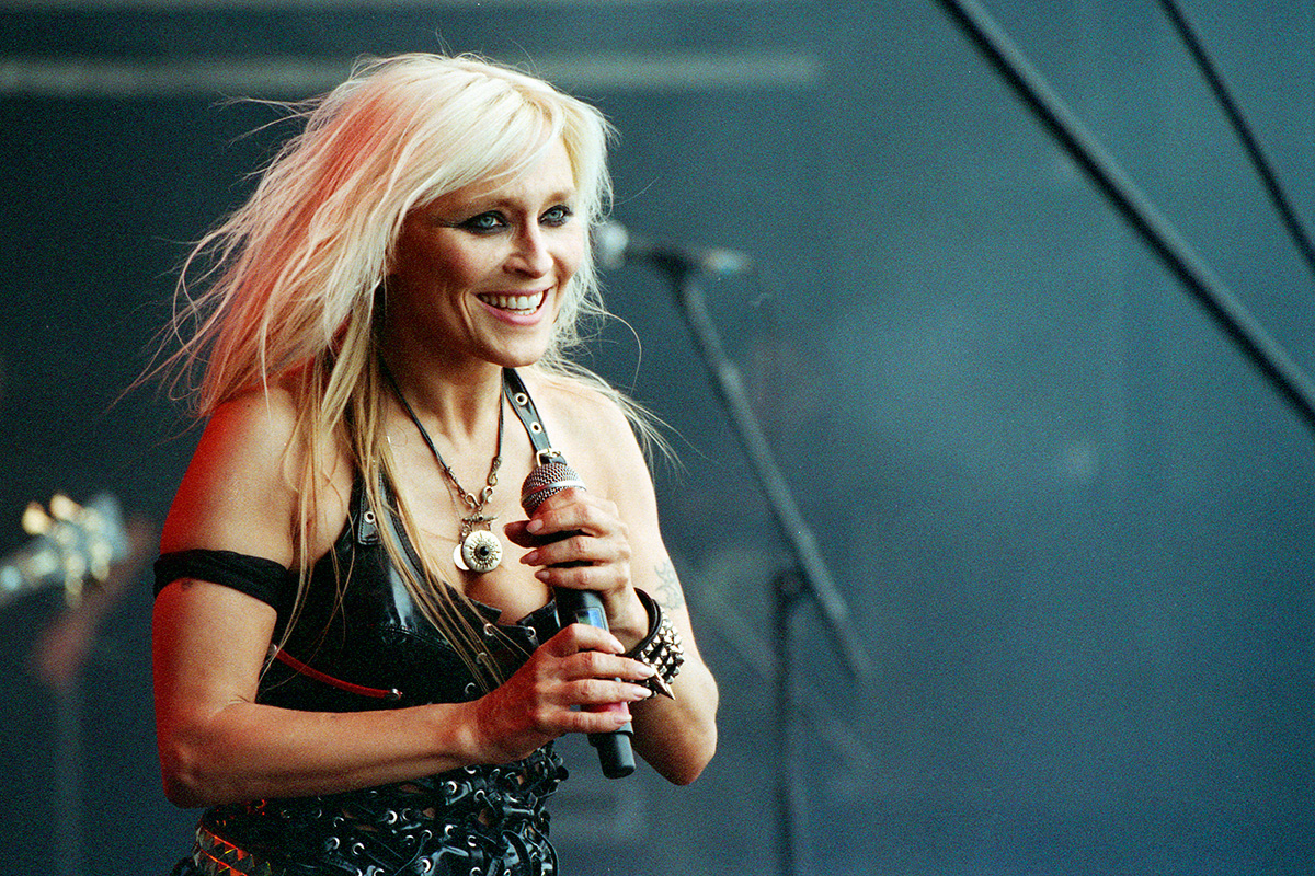 Doro Pesch of Doro, formerly of Warlock, performing at Bloodstock Open Air Festival 2010