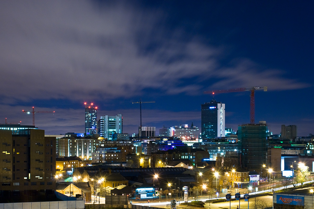 Manchester city centre, as viewed from New Islington