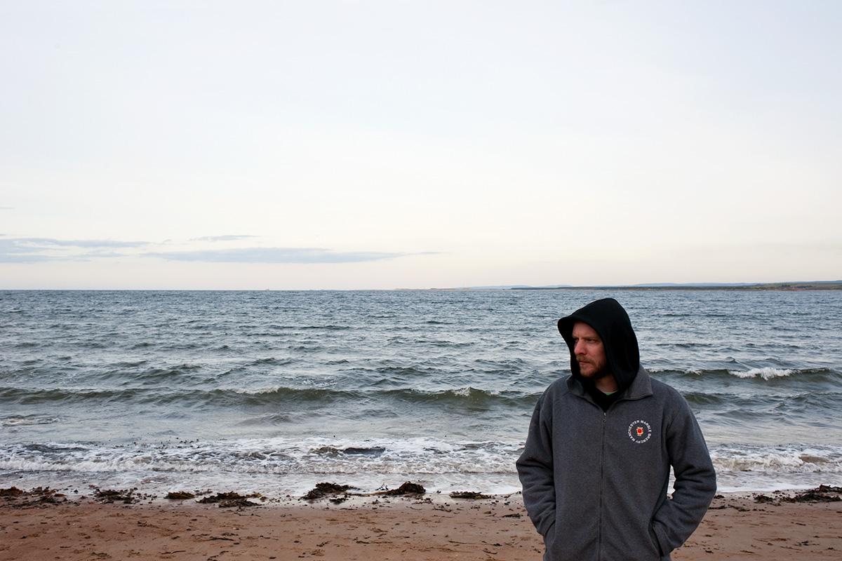 Portrait of Colin Stronge on Rosemarkie Beach