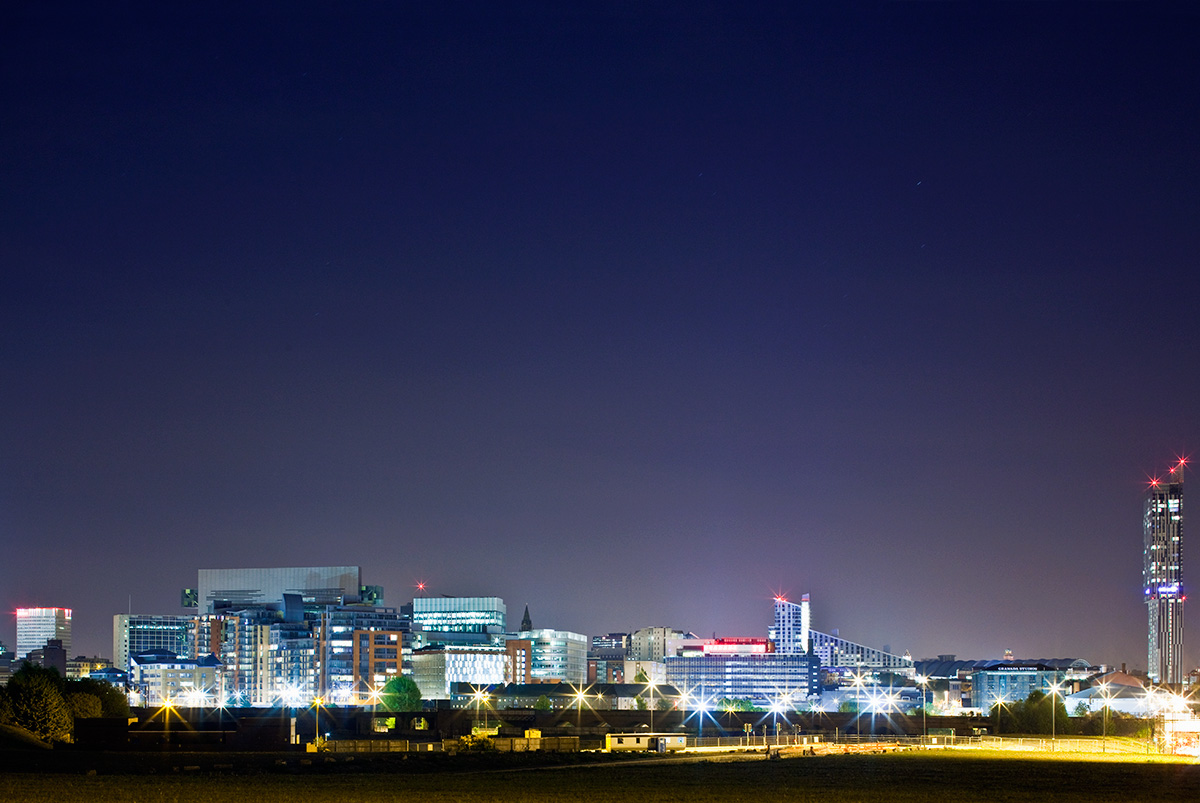 Manchester city centre, as viewed from Salford