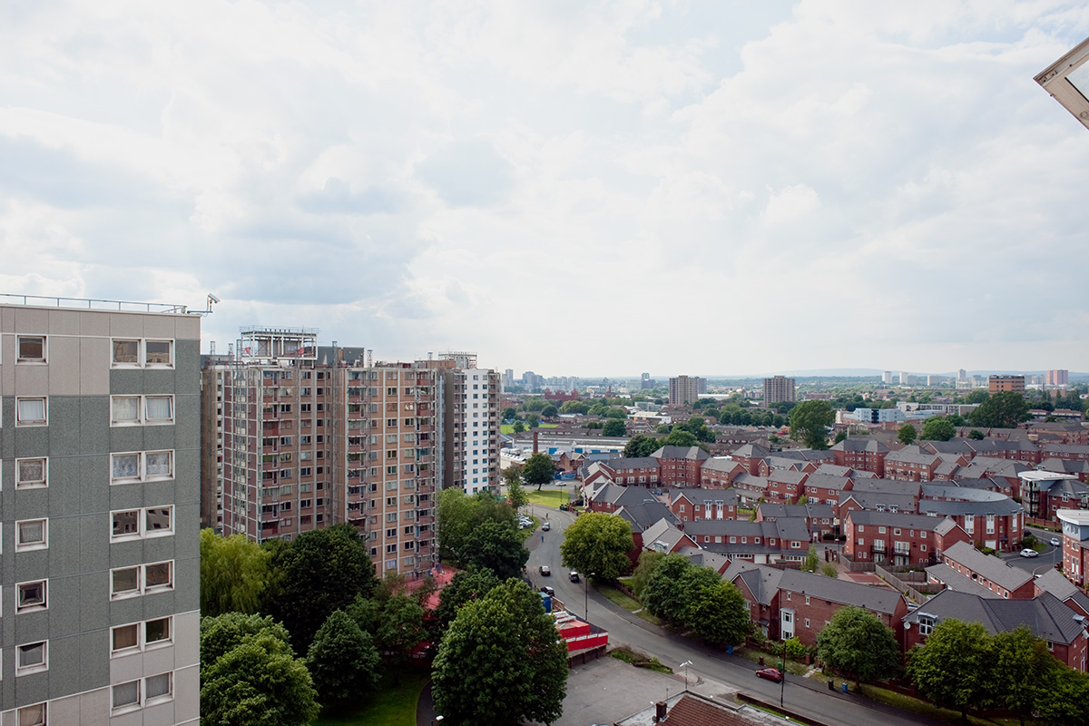 The view from Falcon Court, Old Trafford