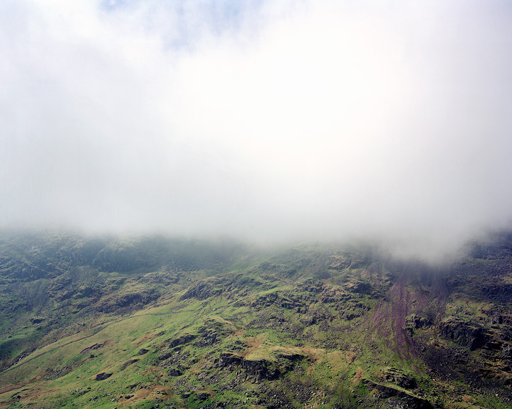 A peak in cloud in the Lake District