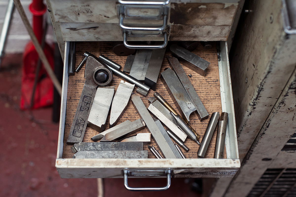 Cutting tools for a lathe, Ted James Design, Stroud