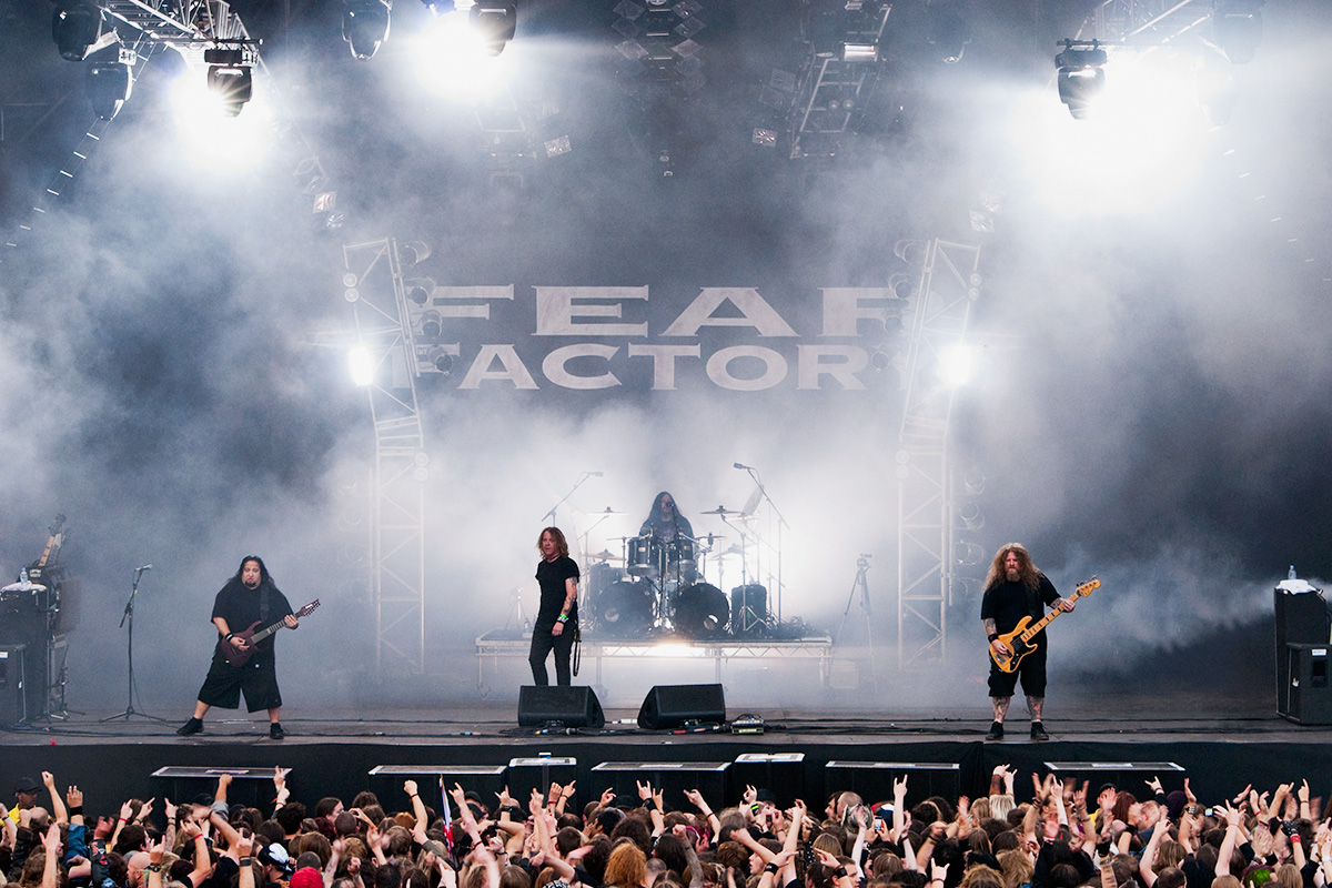 Fear Factory performing at Bloodstock Open Air Festival 2010