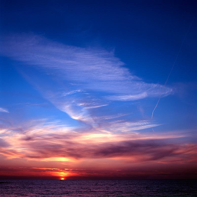 Sunset over Cardigan Bay, Aberystwyth