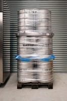 Filled kegs ready for delivery