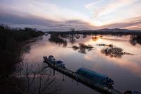 The River Severn in flood near Carrington Bridge, Broomhall