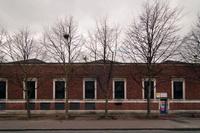 The back of Princess Road Bus Depot